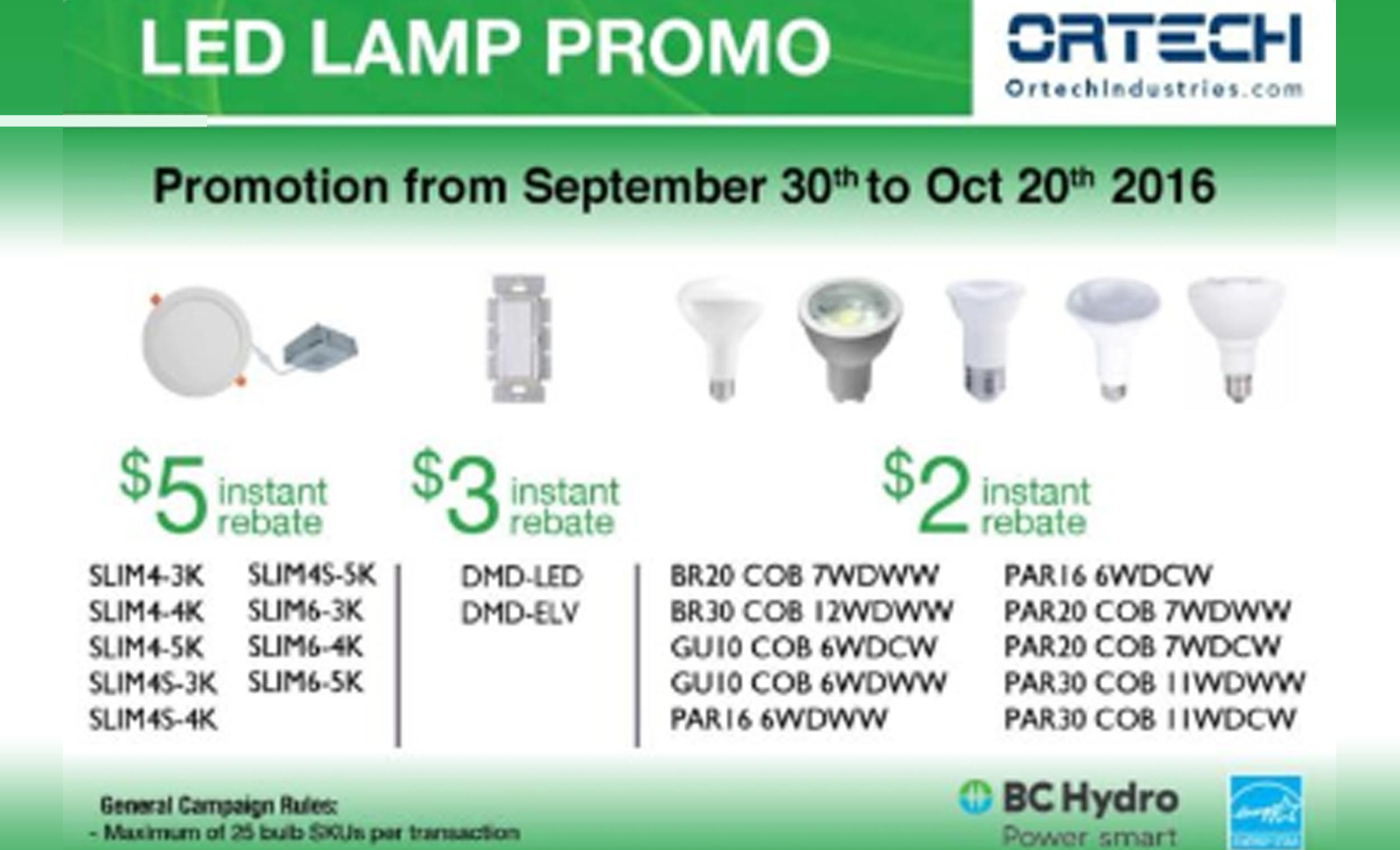 LED Lamp Promo